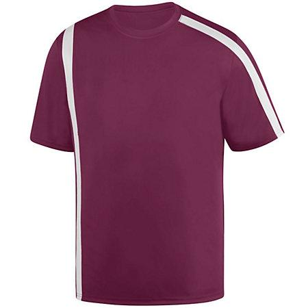Youth Attacking Third Jersey Maroon/white Single Soccer & Shorts