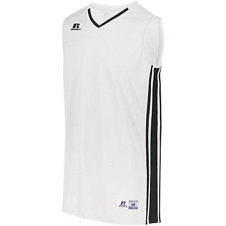 Youth Legacy Basketball Jersey White/black Single & Shorts