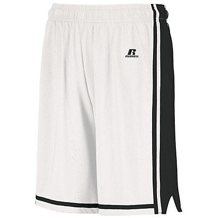 Youth Legacy Basketball Shorts White/black Single Jersey &