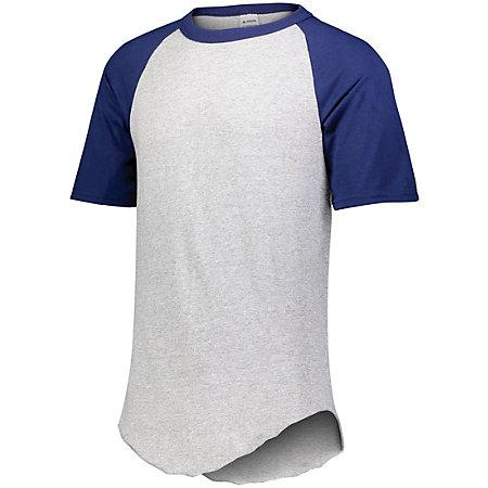 Short Sleeve Baseball Jersey White/purple Adult