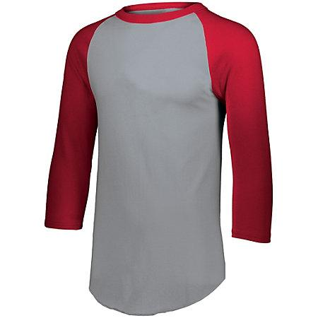 Baseball Jersey 2.0 Athletic Heather/red Adult