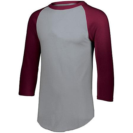 Baseball Jersey 2.0 Athletic Heather/maroon Adult