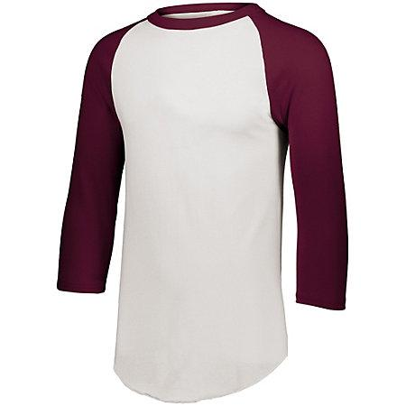 Baseball Jersey 2.0 White/maroon Adult