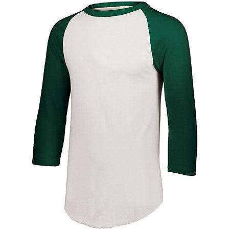 Baseball Jersey 2.0 White/dark Green Adult