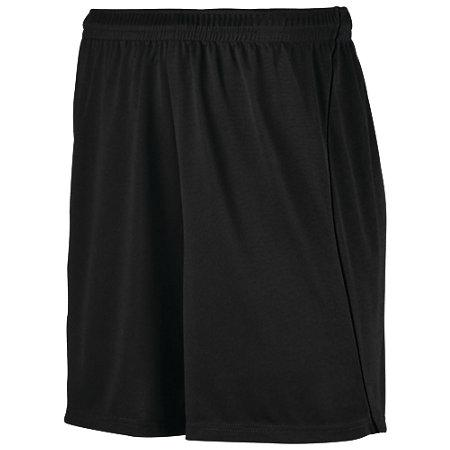 Wicking Soccer Shorts With Piping Black/black Adult Single Jersey &