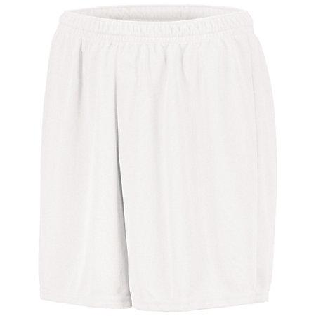 Youth Wicking Mesh Soccer Shorts White Single Jersey &