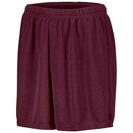 Youth Wicking Mesh Soccer Shorts Maroon Single Jersey &