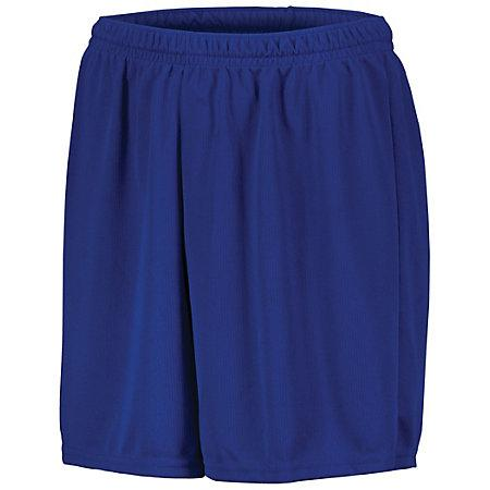 Youth Wicking Mesh Soccer Shorts Royal Single Jersey &