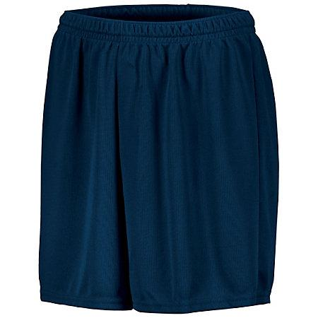 Youth Wicking Mesh Soccer Shorts Navy Single Jersey &