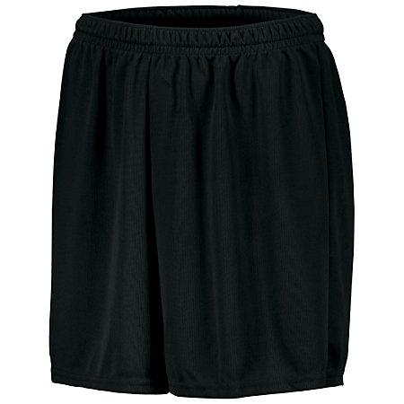 Youth Wicking Mesh Soccer Shorts Black Single Jersey &