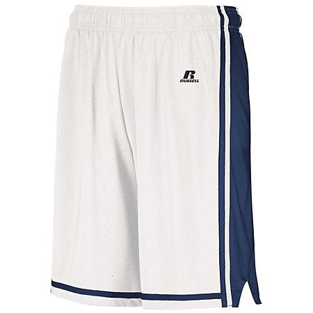 Legacy Basketball Shorts White/navy Adult Single Jersey &