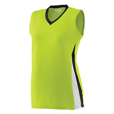 Ladies Tornado Jersey Lime/black/white Softball