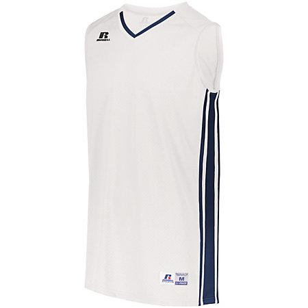 Legacy Basketball Jersey White/navy Adult Single & Shorts