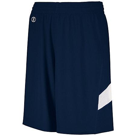 Youth Dual-Side Single Ply Basketball Shorts Navy/white Jersey &