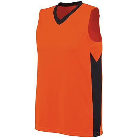 Ladies Block Out Jersey Power Orange/slate Basketball Single & Shorts