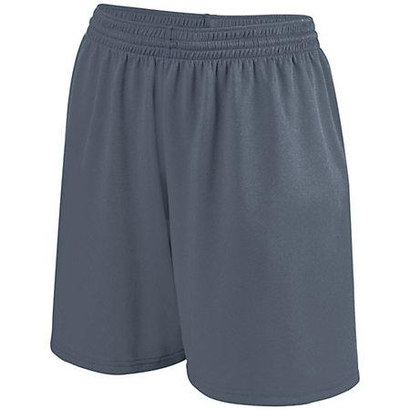 Girls Shortwave Shorts Graphite/white Softball