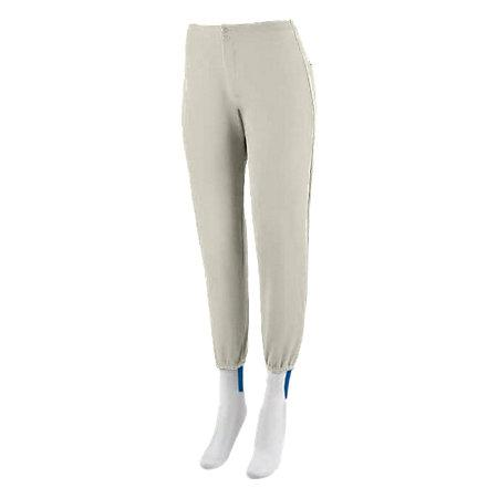 Ladies Low Rise Softball Pant Silver Grey