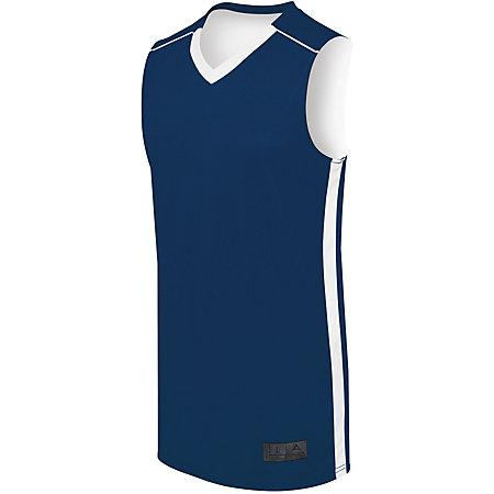 Maillot reversible de competición juvenil Baloncesto azul marino / blanco Single & Shorts