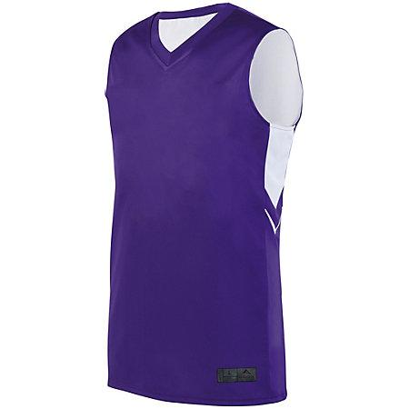 Alley-Oop Reversible Jersey Purple/white Adult Basketball Single & Shorts
