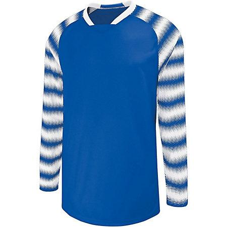 Youth Prism Goalkeeper Jersey Royal/white Single Soccer & Shorts