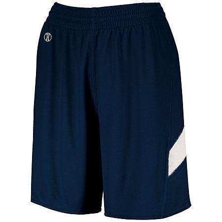 Ladies Dual-Side Single Ply Shorts Navy/white Basketball Jersey &