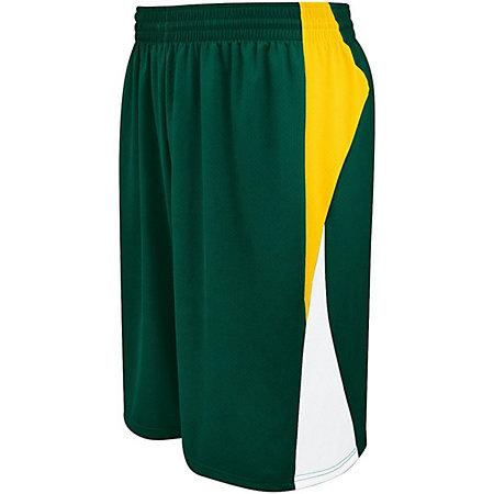 Campus Reversible Shorts Forest/athletic Gold/white Adult Basketball Single Jersey &