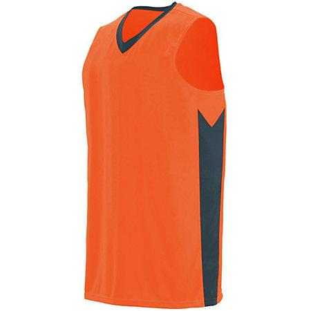 Block Out Jersey Power Orange/slate Adult Basketball Single & Shorts
