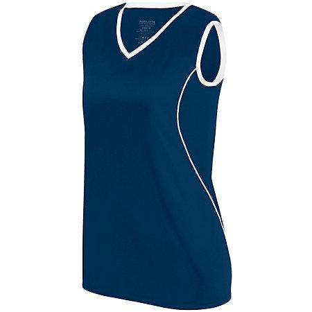 Ladies Firebolt Jersey Navy/white Softball