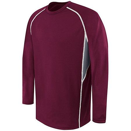 Youth Long Sleeve Evolution Maroon/graphite/white Basketball Single Jersey & Shorts