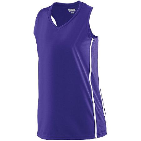 Ladies Winning Streak Racerback Jersey Purple/white Basketball Single & Shorts