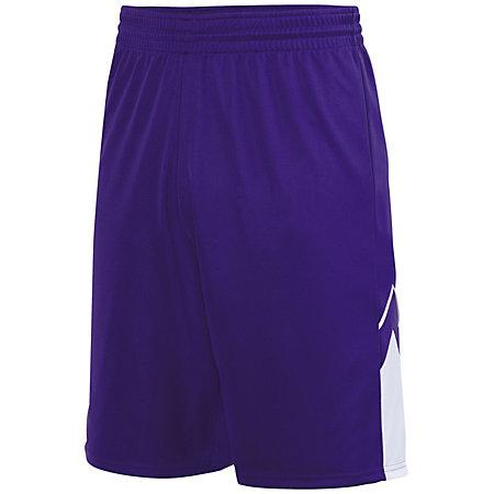 Alley-Oop Shorts reversibles Jersey de baloncesto adulto púrpura / blanco Single &