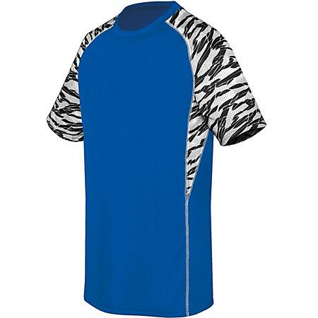 Youth Evolution Printed Shorts Sleeve Jersey Royal/fragment Print/white Single Soccer &