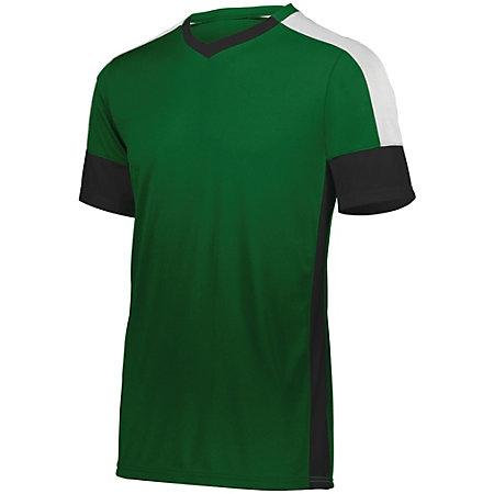 Youth Wembley Soccer Jersey Forest/black/white Single & Shorts