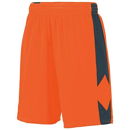 Youth Block Out Shorts Power Orange/slate Basketball Single Jersey &