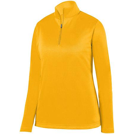 Ladies Wicking Fleece Pullover Gold Softball