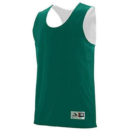 Youth Reversible Wicking Tank Dark Green/white Basketball Single Jersey & Shorts