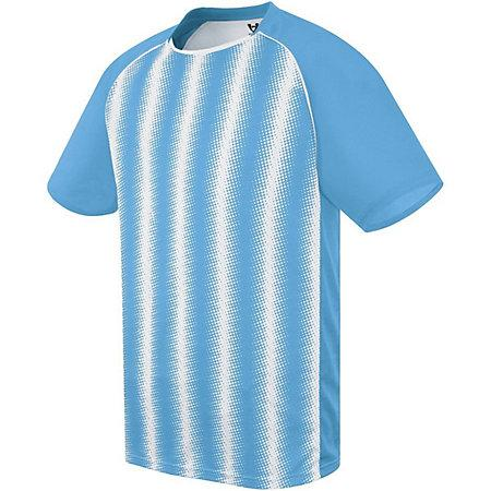 Youth Prism Soccer Jersey Columbia Blue/white Single & Shorts