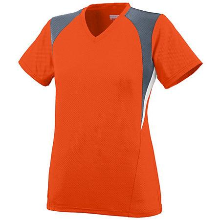 Ladies Mystic Jersey Orange/graphite/white Softball