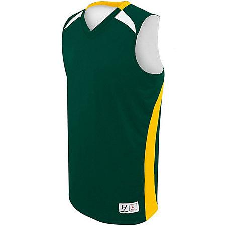 Youth Campus Reversible Jersey Forest/athletic Gold/white Basketball Single & Shorts