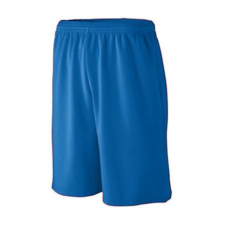 Youth Longer Length Wicking Mesh Athletic Shorts Royal Basketball Single Jersey &