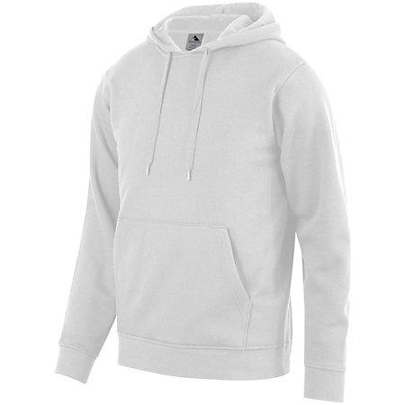 60/40 Fleece Hoodie White Adult Baseball