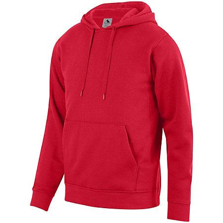 60/40 Fleece Hoodie Red Adult Baseball