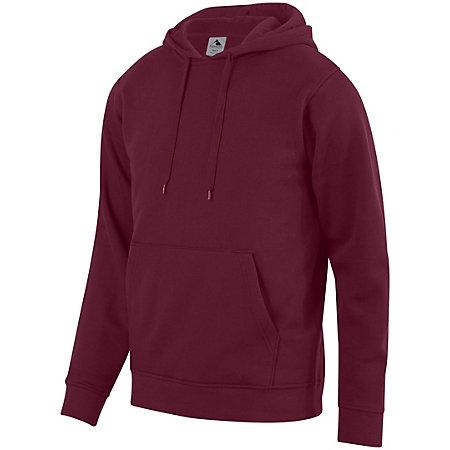 60/40 Fleece Hoodie Maroon Adult Baseball