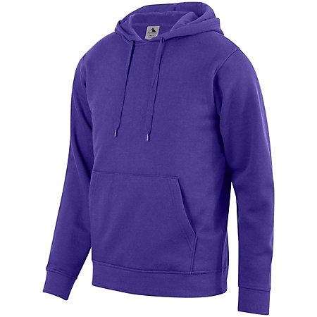 60/40 Fleece Hoodie Purple Adult Baseball