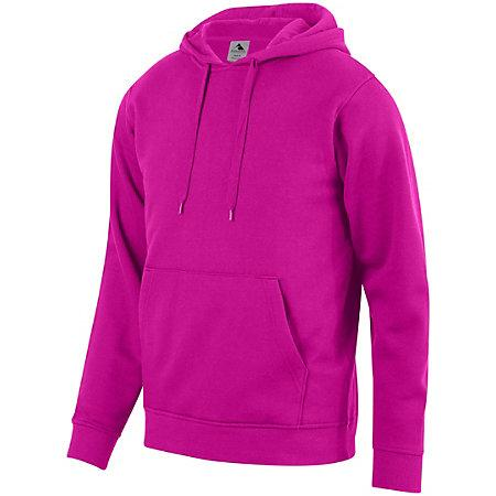 60/40 Fleece Hoodie Power Pink Adult Baseball
