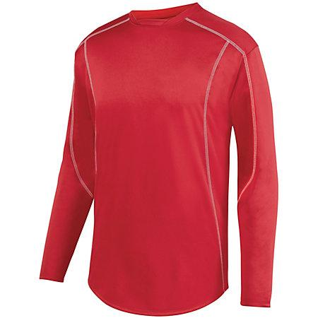 Edge Pullover Red/white Adult Baseball