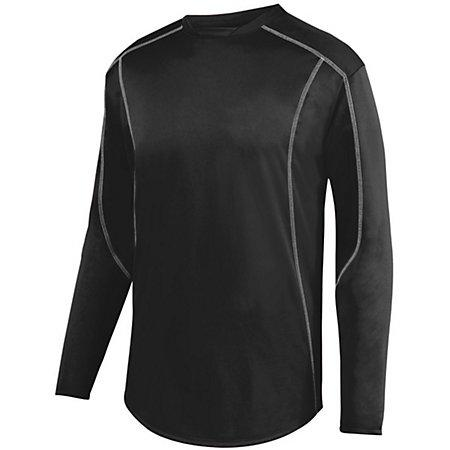 Edge Pullover Black/white Adult Baseball