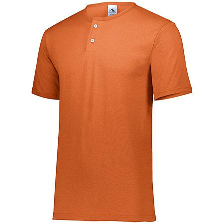 Two-Button Baseball Jersey Orange Adult
