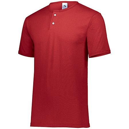 Two-Button Baseball Jersey Red Adult