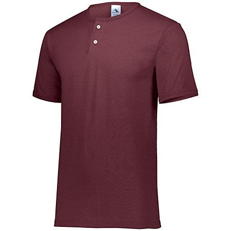 Two-Button Baseball Jersey Maroon Adult